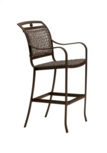 Palladian Woven Stationary Bar Stool