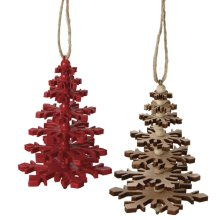 Laser-cut Tree Ornament (2 asstd).