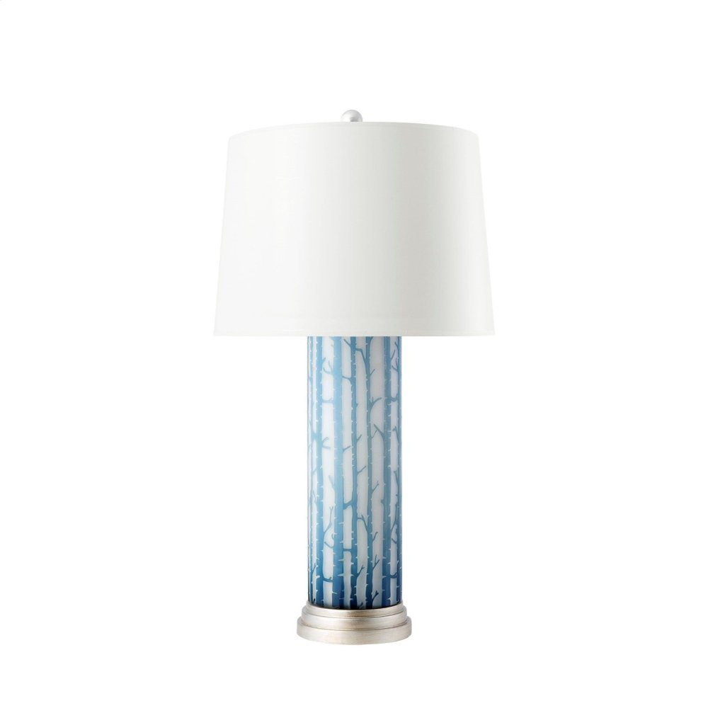 Birch Lamp, Blue and White