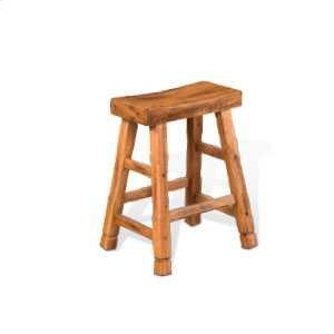 """Sunny Design24""""H Sedona Saddle Seat Stool w/ Wood Seat"""