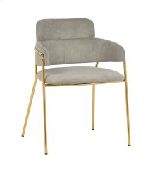Karl Grey Linen Chair - Set of 2