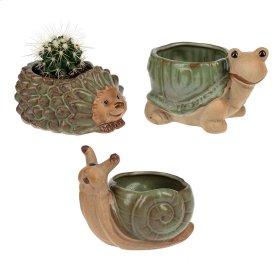 6 pc. ppk. Garden Creature Mini Flower Pot