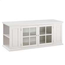 "Cottage White 62"" TV Stand with Bookcase Ends #85162"