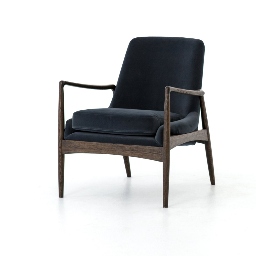 Braden Chair Modern Velvet Shadow