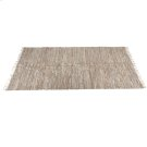 Beige Leather Chindi 5' x 8' Rug (Each One Will Vary) Product Image