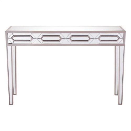 Hexa Console Table Mirror And Gray