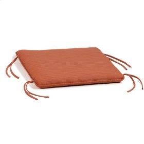 Siena Ottoman Cushion - Dupione Papaya