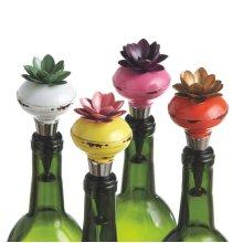 Flower Doorknob Bottle Stopper (4 asstd)