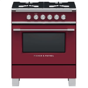 "Fisher & PaykelGas Range, 30"", 4 Burners"