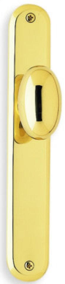Modern Narrow Plate Knob Latchset in (Modern Narrow Plate Knob Latchset - Solid Brass)