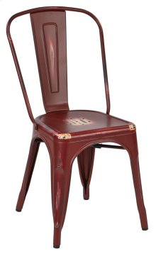 Bristow Armless Chair, Antique Red, 2 Pack