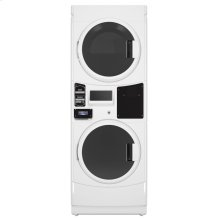 Commercial Gas Super-Capacity Stack Washer/Dryer, Card Reader-Ready, Non-Vend, Export Model