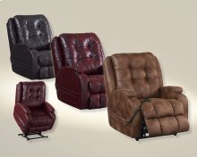 Power Lift Lay Flat Recliner - Burgundy