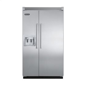 """Stainless Steel 48"""" Quiet Cool™ Side-by-Side with dispenser - VISB Tru-Flush™ (48"""" wide)"""