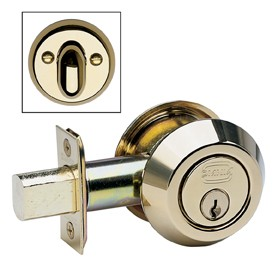 Modern Auxiliary Deadbolt Kit - Solid Brass in MB (MaxBrass® PVD Plated)