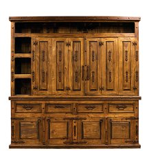 2 pc. TV Armoire w/ Folding Doors