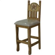 """17"""" x 43"""" x 24"""" Stone Star Barstool with Cushion Seat and Stone Star Product Image"""