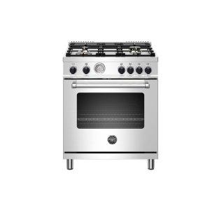 "Bertazzoni30"" Master Series range - Gas oven - 4 aluminum burners - Black knobs - LP version"