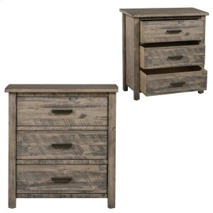 CRESTVIEW COLLECTIONSHawthorne Estate 3 Drawer Wood Chest Distressed Grey Finish