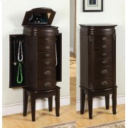 "Italian Influenced Transitional ""Espresso"" Jewelry Armoire Product Image"