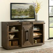 Modern Gatherings - 60-inch Sliding Door Console - Brushed Acacia Finish Product Image