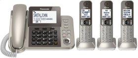 Corded/Cordless Phone and Answering Machine - 3 Cordless Handsets