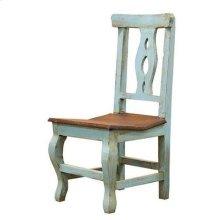 Turquoise/Walnut Alis Chair