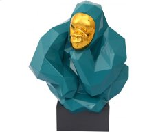 Green and Gold Pondering Ape Large Sculpture Product Image