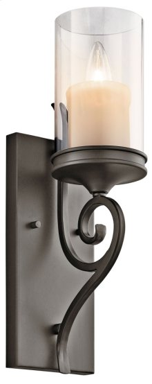 Lara 1 Light Wall Sconce Shadow Bronze