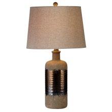 Rustic with Metallic Glaze Table Lamp. 60W Max.