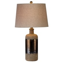 Rustic with Metallic Glaze Table Lamp. 60W Max.