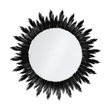 Large Black Sunburst Mirror