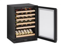 """1000 Series 24"""" Wine Captain® Model With Black Frame Finish and Field Reversible Door Swing"""