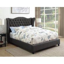 Newburgh Blue Grey Upholstered California King Bed