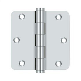 "3 1/2""x 3 1/2""x 1/4"" Radius Hinges - Polished Chrome"