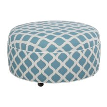 Round Ottoman with Plain Top/Casters