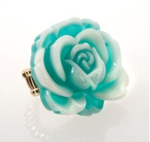 BTQ Teal Rose Ring