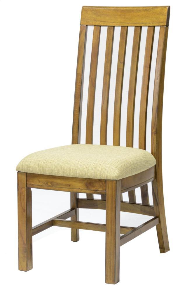 Incroyable Kingsland Long Back Side Chair W/Fabric Seat