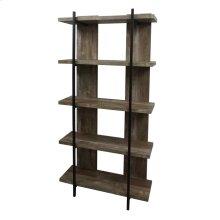 Samson Rustic Weathered Oak Bookcase