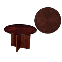 "TABLE,42"" ROUND, MAHONGANY CNTMPORARY"