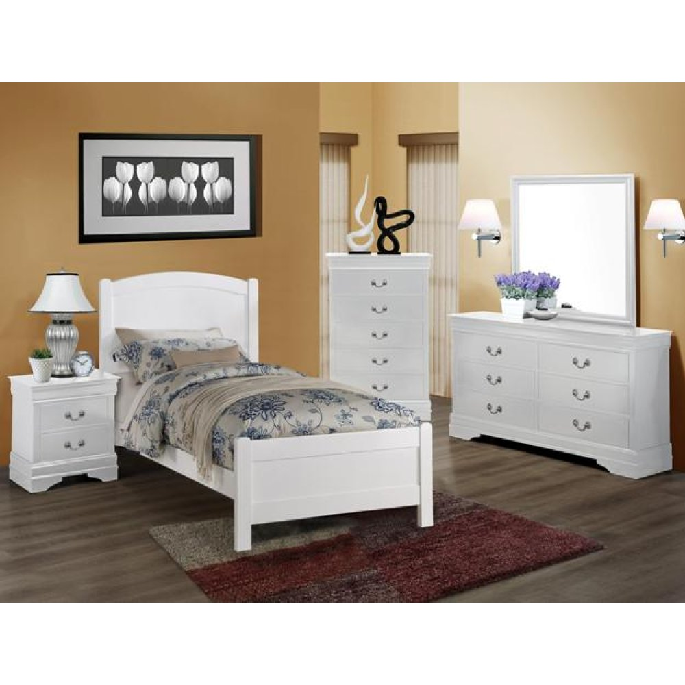 Louis Philip Night Stand White