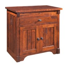 Yesterday River Nightstand with Drawer and Doors