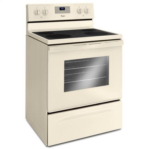 Whirlpool® 5.3 Cu. Ft. Freestanding Electric Range with Easy Wipe Ceramic Glass Cooktop - Biscuit-on-Biscuit