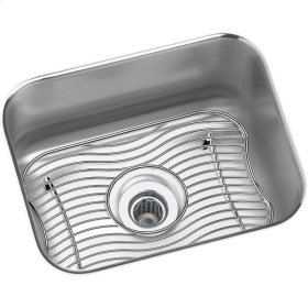 "Elkay Lustertone Classic Stainless Steel 14-1/2"" x 11-3/4"" x 7"", Single Bowl Undermount Bar Sink Kit"