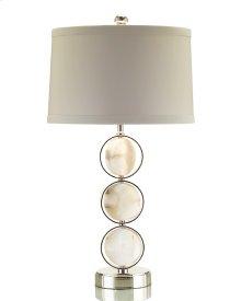 Caged Alabaster Discs Lamp