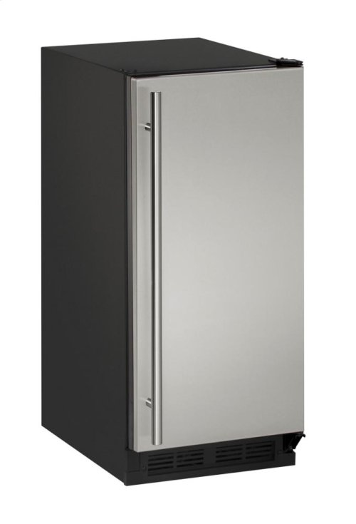 """1000 Series 15"""" Clear Ice Machine With Stainless Solid Finish and Field Reversible Door Swing"""