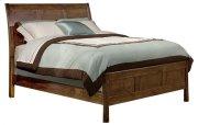 Alder Shaker Sleigh Bed Product Image