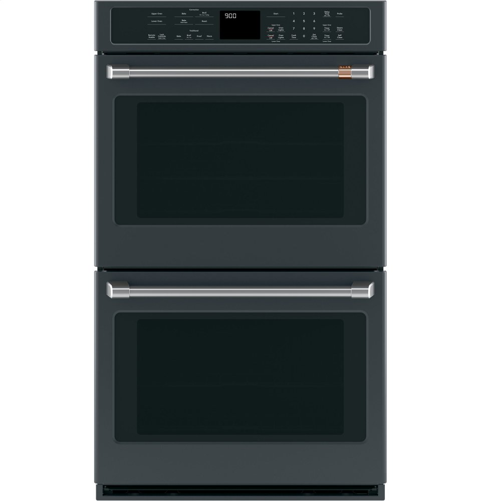"""Caf(eback) 30"""" Built-In Double Convection Wall Oven  MATTE BLACK"""