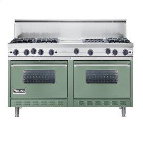 """Mint Julep 60"""" Open Burner Commercial Depth Range - VGRC (60"""" wide, six burners 12"""" wide griddle/simmer plate 12"""" wide char-grill)"""