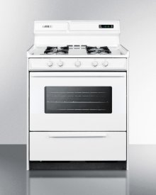 "Deluxe Gas Range In 30"" Width With Electronic Ignition, Digital Clock/timer, and Oven Door With Light"